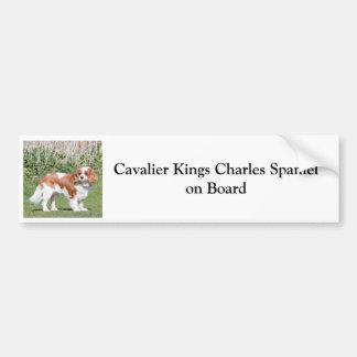 Cavalier King Charles Spaniel on board sticker