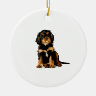 Cavalier King Charles Spaniel Ornament Black & Tan