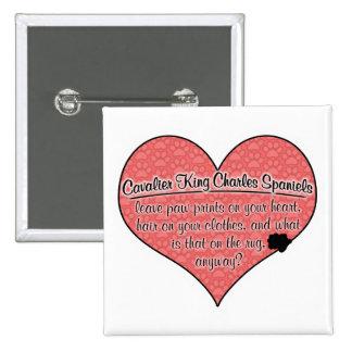 Cavalier King Charles Spaniel Paw Prints Dog Humor Pin