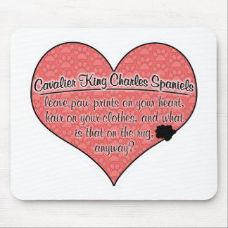 Cavalier King Charles Spaniel Paw Prints Dog Humor Mousepad