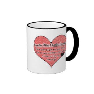 Cavalier King Charles Spaniel Paw Prints Dog Ringer Mug