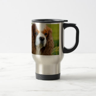 Cavalier King Charles Spaniel Portrait Travel Mug