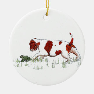 Cavalier King Charles Spaniel  puppy CKC Round Ceramic Decoration