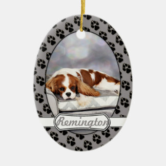 Cavalier King Charles Spaniel - Remington Ceramic Oval Decoration