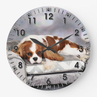 Cavalier King Charles Spaniel - Remington Large Clock