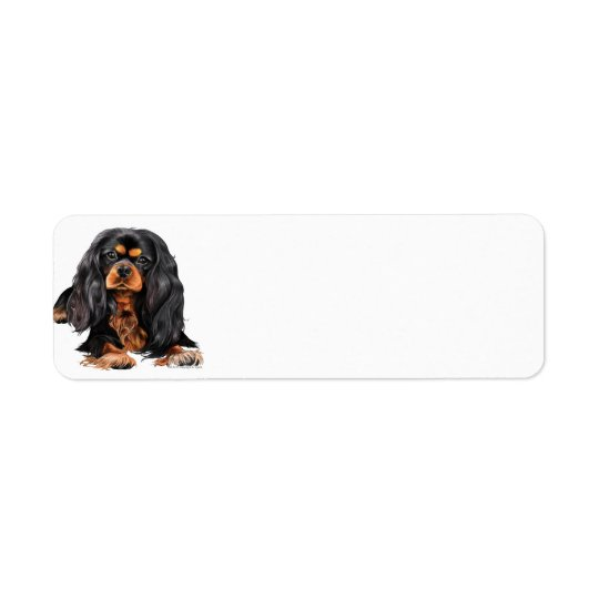 Cavalier King Charles Spaniel Return Address Label