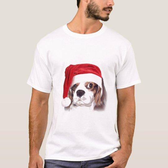 Cavalier king Charles Spaniel Santa t-shirt