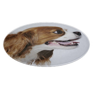Cavalier King Charles Spaniel, side view Cutting Board