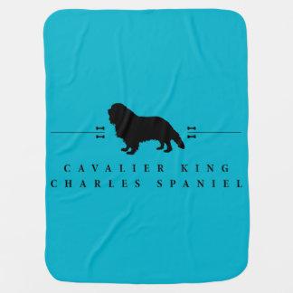 Cavalier King Charles Spaniel silhouette -1- Baby Blanket