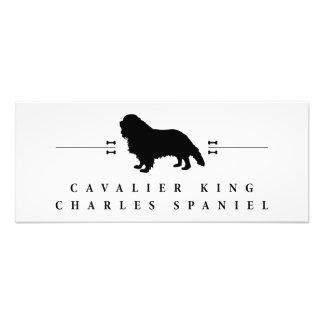 Cavalier King Charles Spaniel silhouette -1- Photographic Print