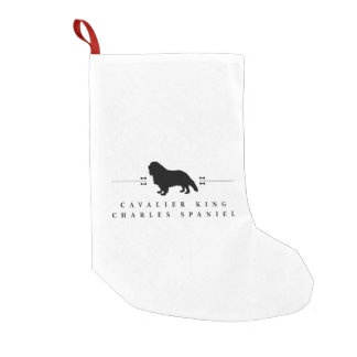 Cavalier King Charles Spaniel silhouette -1- Small Christmas Stocking