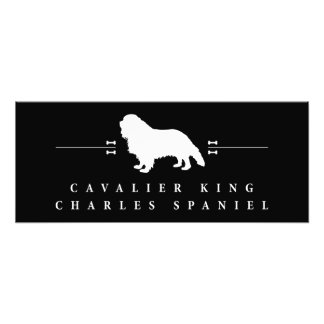 Cavalier King Charles Spaniel silhouette -2- Photo Print