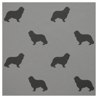 Cavalier King Charles Spaniel Silhouettes Pattern Fabric
