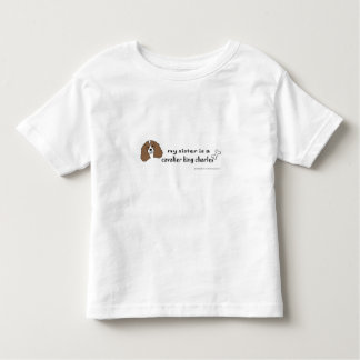 cavalier king charles spaniel toddler T-Shirt
