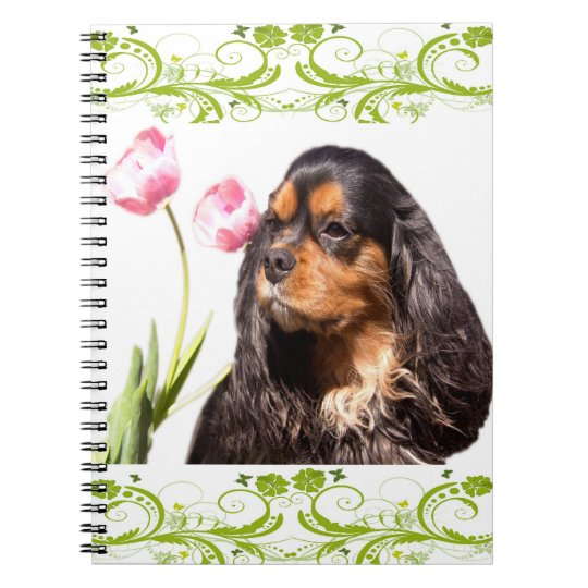 Cavalier King Charles Spaniel Tulips Notebook