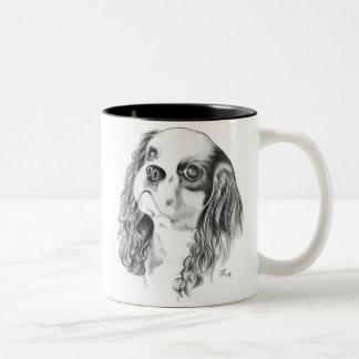 Cavalier King Charles Spaniel Two-Tone Coffee Mug
