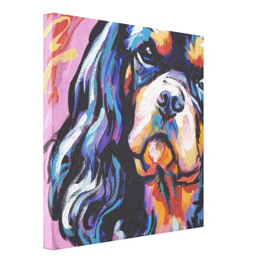 Cavalier King Charles Spaniel wrapped canvas
