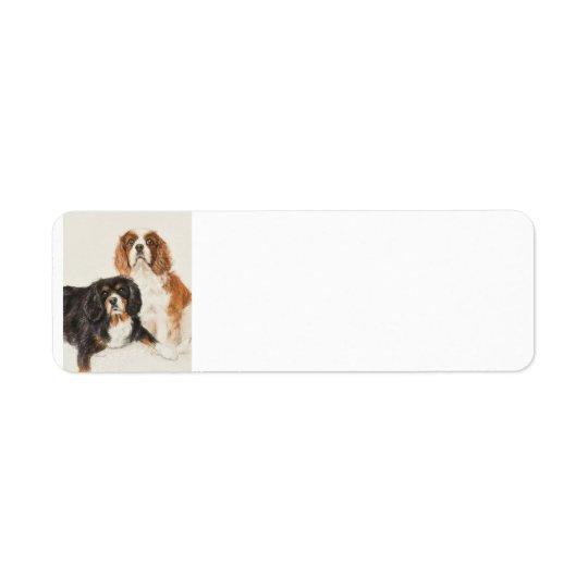 Cavalier King Charles Spaniels painting Return Address Label
