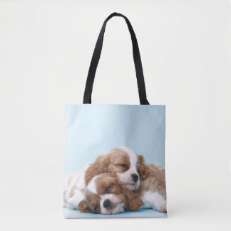 Cavalier King Charles Spaniels Sleeping Tote Bag