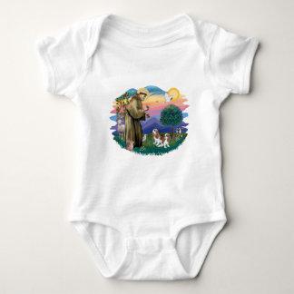 Cavalier King Charles (two Blenheim) Baby Bodysuit