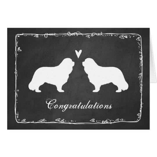 Cavalier King Charles Wedding Congratulations Card