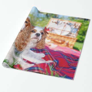 Cavalier Picnic KC Spaniels Wrapping Paper