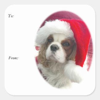 Cavalier Santa Gift Tag Stickers