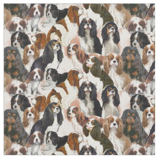 Cavalier Spaniel Mural Fabric