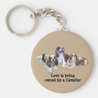 Cavalier Threesome Keychain