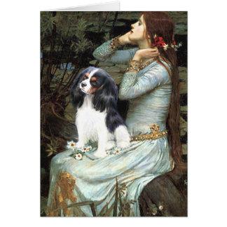 Cavalier (Tri6) - Ophelia Seated Greeting Card