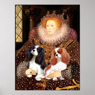 Cavaliers (2) - Queen Elizabeth Print