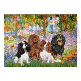 Cavaliers (4) - in Monet's Garden Card