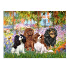 Cavaliers (4) - in Monet's Garden Postcard