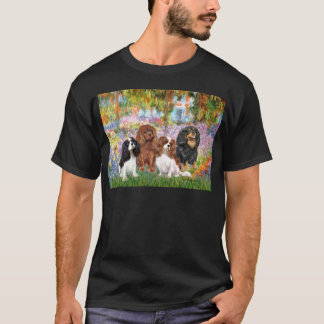 Cavaliers (4) - in Monet's Garden T-Shirt