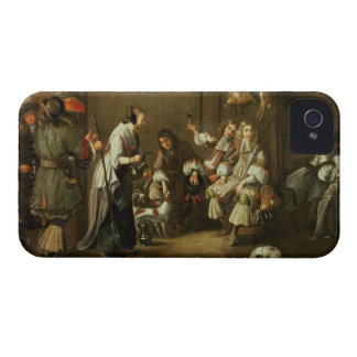Cavaliers and Companions Carousing in a Barn iPhone 4 Cases