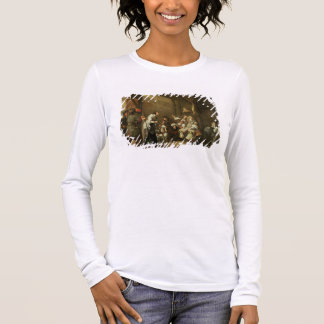 Cavaliers and Companions Carousing in a Barn Long Sleeve T-Shirt
