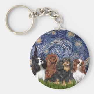 Cavaliers (four) - Starry Night Key Ring