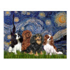 Cavaliers (four) - Starry Night Postcard