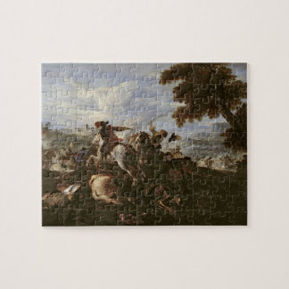 Cavaliers in Battle (oil on canvas) Jigsaw Puzzle