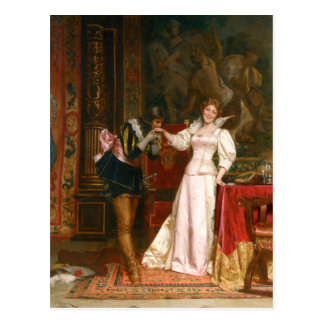 Cavalier's kiss- Vintage Motive Postcard