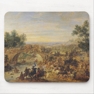 Cavalry Battle on a Bridge Mouse Pad