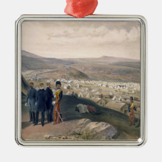 Cavalry Camp plate from The Seat of War in the E Christmas Ornaments