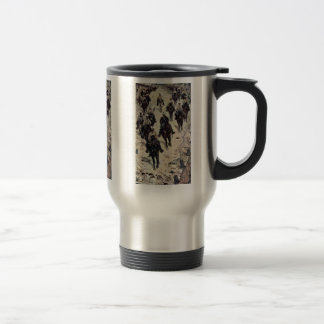 Cavalry Corps On A Dorfstrasse By Fattori Giovanni Coffee Mugs