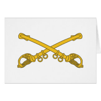 Cavalry insignia greeting card