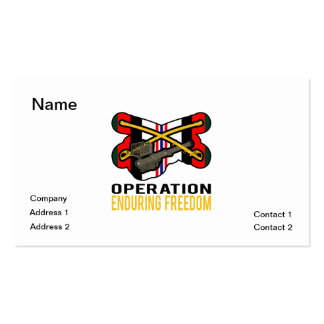 Cavalry Stinger OEF Pack Of Standard Business Cards