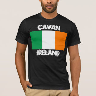 Cavan, Ireland with Irish flag T-Shirt