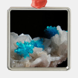 Cavansite on Stilbite Christmas Ornament