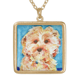 "Cavapoo ""Ollie"". Gold Plated Necklace"