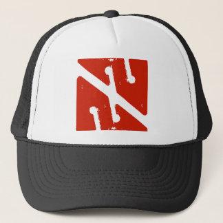 cave arrow flag trucker hat