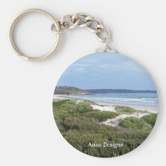 Cave Beach Basic Round Button Key Ring